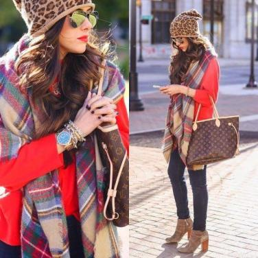 tartan-scarf-outfit