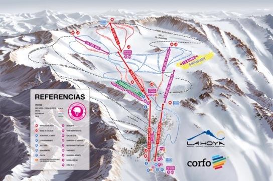 Mapa de pistas La Hoya 2017
