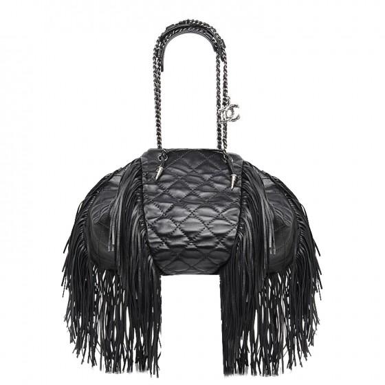 chanel-lambskin-quilted-western-baluchon-fringe-bag-black-008u