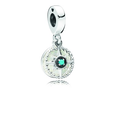 $51.000 - Compass Rose, Silver Enamel & Blue Crystal