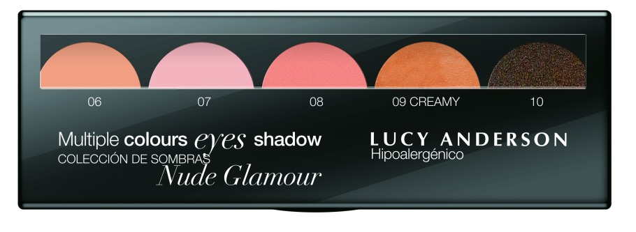 multiple colours eyes shadow nude glamour