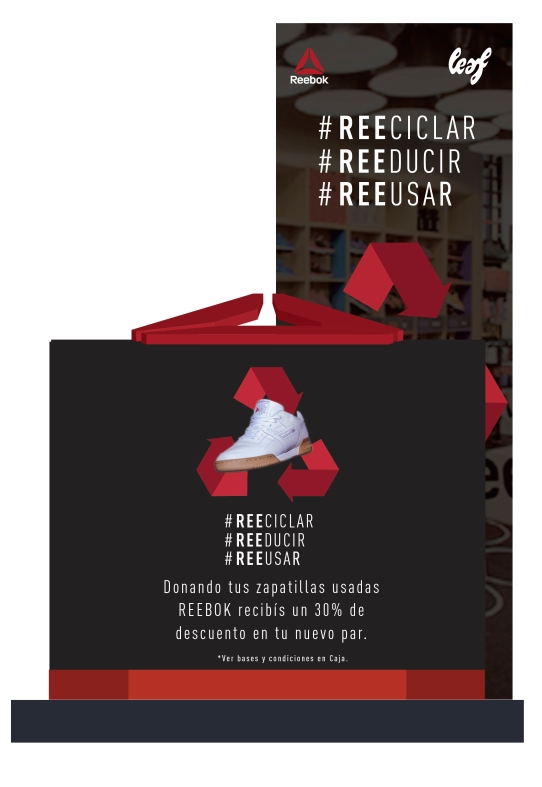 Urna de Reebok Recicla
