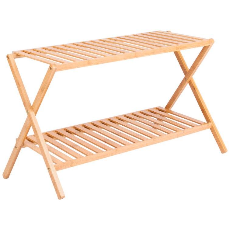 Repisa 2 bandejas bambú $14.990