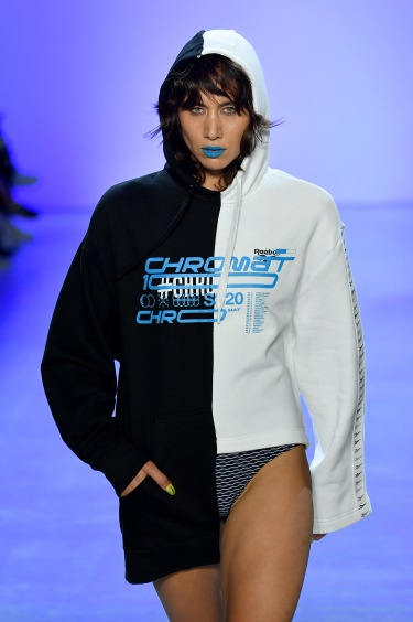 NEW YORK, NEW YORK - SEPTEMBER 07: A model walks the runway for Chromat Spring/Summer 2020 during New York Fashion Week: The Shows at Gallery I at Spring Studios on September 07, 2019 in New York City. (Photo by Mike Coppola/Getty Images for Chromat)
